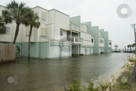 Gustav Flooded Apartments stock photo, Flood waters engulf n apartment complex during Hurricane Gustav on September 1, 2008. Gustav damage is estimated in excess of $20 billion. by A Cotton Photo