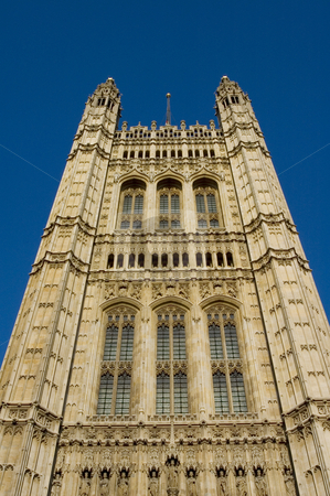 Houses of Parliament (London) stock photo, Main tower of the houses of Parliament by Lee Torrens