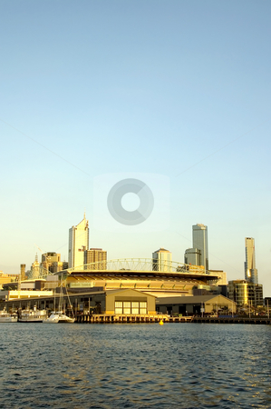 Melbourne Docklands at Dusk stock photo, Docklands development in the Australian city of Melbourne by Lee Torrens