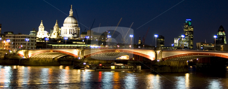 London's View stock photo, Night time view of Saints Pauls Cathedral, London by Lee Torrens