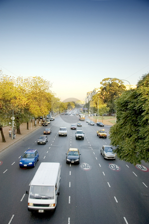 Wide avenues of Buenos Aires stock photo, A wide avenue with traffic in the Argentinean capital, Buenos Aires by Lee Torrens