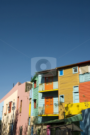 Caminito - La Boca Buenos Aires stock photo, Buildings with colorful painted facades line the famous Caminito in historic La Boca in the Argentinean capital Buenos Aires by Lee Torrens