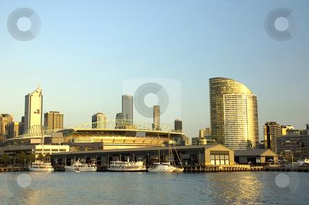 Melbourne Docklands at Dusk stock photo, Docklands development in the Australian city of Melbourne by Lee Torrens