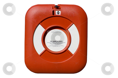 Life Buoy stock photo, Isolated close up of a life buoy by Lee Torrens