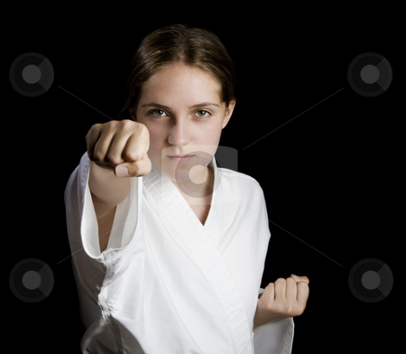 Karate girl stock photo,  by Scott Griessel