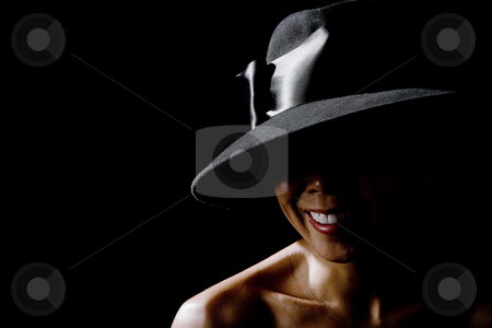 Mysterious Asian Woman stock photo, Mysterious Asian Woman Smiling by Scott Griessel