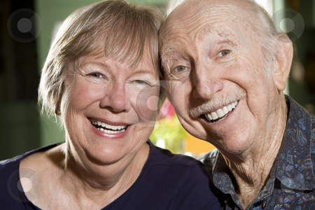Portrait of Senior Couple stock photo, Close Up Portrait of Senior Couple by Scott Griessel