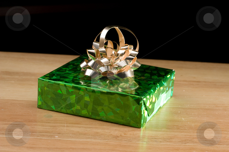 Christmas Gift for The Holidays stock photo, Christmas present wrapped for that special someone by Johan Knelsen