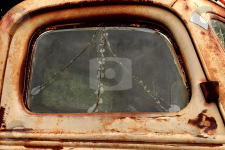 Rusty Door stock photo, Aged truck door by Jack Schiffer