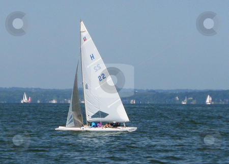 Summer sailing on Lake Mendota_ Madison, Wisconsin stock photo, Sailboats skim the clear blue waters of Madison, Wisconsin's Lake Mendota by Bruce Peterson