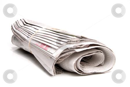 Newspaper stock photo, A daily newspaper ready for a loyal subscriber. by Robert Byron