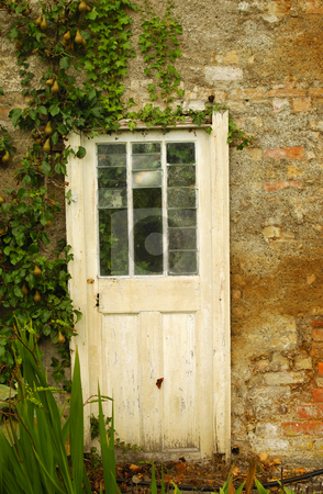 Antique Door stock photo, Antique Door Castlepollard Ireland by Will Burwell