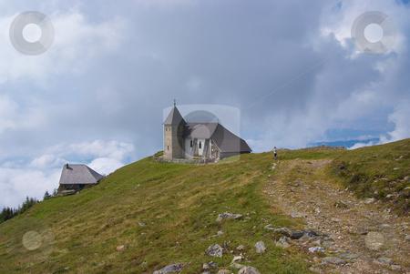 Church on a hill stock photo, Pilgrimate Church