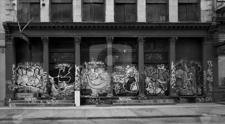 Graffiti Covered Building, Soho NYC stock photo, A Graffiti Covered Building in Soho NYC by Ryan Bouie