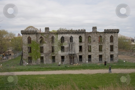 Smallpox Hospital, Roosevelt Island stock photo, This is Smallpox Hospital in Roosevelt Island which is now abandoned. by Ryan Bouie