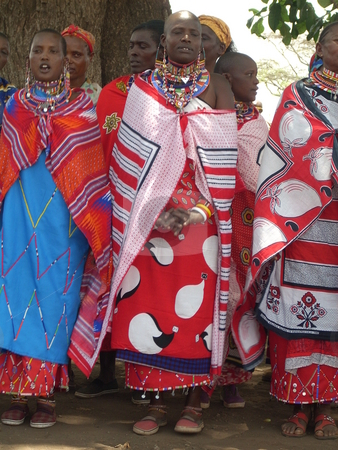 Masai Women singing stock photo,  by Rose Nthiwa