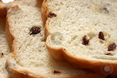 Raisin bread stock photo, Slices of raisin bread freshly baked sweet by Kheng Guan Toh