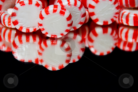Star Mints stock photo, A collection of star mint candies ready for the holiday season. by Robert Byron