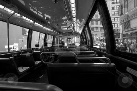 MTA Bus stock photo, Interior photo of NYC MTA transist bus by Ryan Bouie