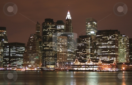 NYC Skyline stock photo, A photo of the New York City Skyline (lower Manhattan) by Ryan Bouie