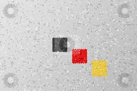 Germany stock photo, Color of the Germany, Belgium flag as a mosaic. by Henrik Lehnerer