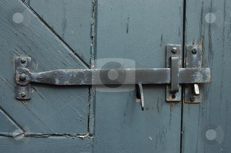 Antique Door Latch stock photo, Grey antique door latch by Will Burwell