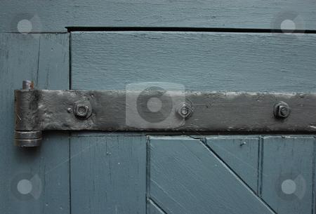 Antique Door Hinge stock photo, Wrought Iron Door Hinge by Will Burwell
