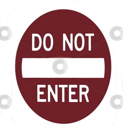 Do not enter sign stock photo, Do Not Enter Sign revitalized from photo by Joseph Ligori
