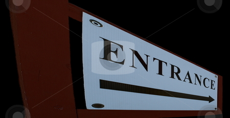 Abstract entrance sign stock photo, Abstract entrance sign  stretched with perspective by Joseph Ligori