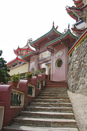 Chinese temple stairs stock photo, Stairways at a traditional chinese temple by Kheng Guan Toh