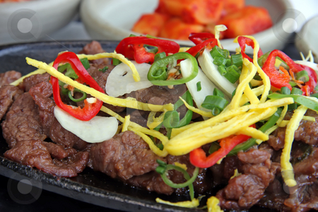 Korean bulgogi stock photo, Beef bulgogi traditional korean barbecued meat dish by Kheng Guan Toh