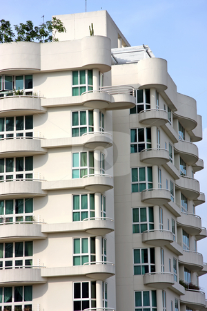Modern apartment stock photo, Modern apartment buildings with windows in singapore by Kheng Guan Toh