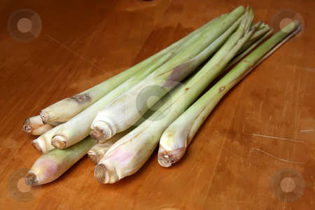 Fresh lemongrass stock photo, Fresh lemongrass traditional asian cooking herb spice by Kheng Guan Toh