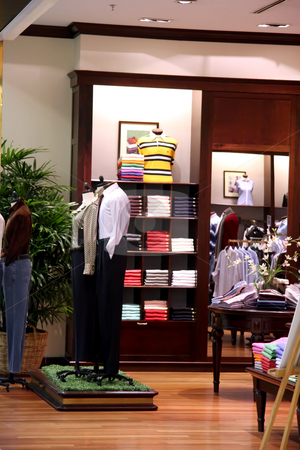 Fashion retail stock photo, Fashion clothing retail display clothes for sale by Kheng Guan Toh
