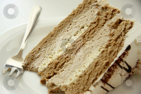 Coffe cream cake stock photo, Coffee cream chiffon cake with icing by Kheng Guan Toh