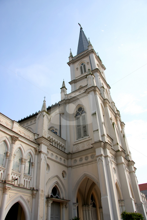 Colonial cathedral stock photo, British colonial style cathedral, Chymes in Singapore by Kheng Guan Toh