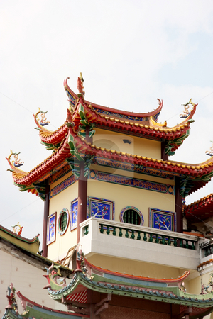 Traditional chinese temple stock photo, Traditional chinese temple by Kheng Guan Toh