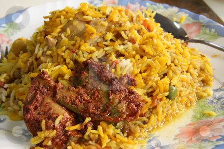 Indian rice stock photo, Spicy dish of indian rice traditional cuisine by Kheng Guan Toh