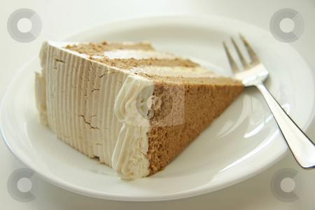 Coffe cream cake stock photo, Coffee cream chiffon cake with icing by Kheng Guan Toh