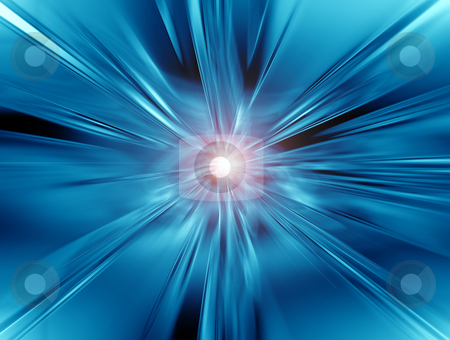 Blue Vortex stock photo, A Blue Vortex with bright light by Adrian Mace