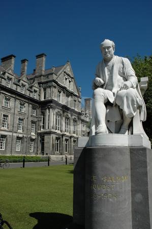 Trinity College, Dublin stock photo, Statue in Trinity College Dublin by Simon Jeacle