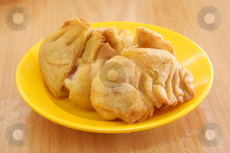 Fried dimsum stock photo, Fried dimsum traditional chinese tidbits snack breakfast by Kheng Guan Toh