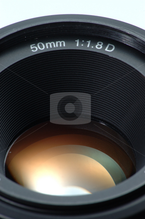 Lens stock photo, Standard 50mm SLR camera Lens by Simon Jeacle