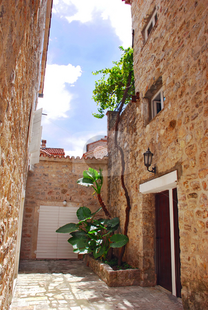 Old stone town in Montenegro - Budva stock photo, Old stone houses exterior in Budva, Montenegro by Julija Sapic