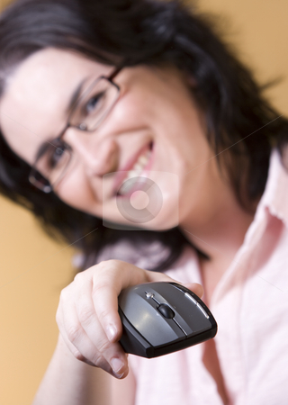 Young woman communication technology stock photo, Young woman by Ivan Montero