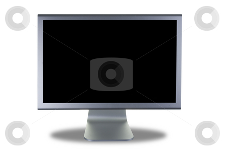 Lcd monitor flat screen stock photo, Computer lcd or tft monitor with flat screen by Ivan Montero