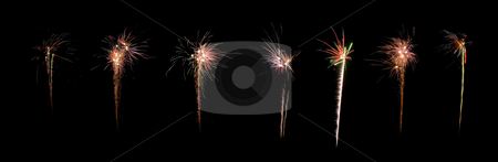 Celebration firework panorama stock photo, Image of an explosion of a firework during a celebration by Ivan Montero