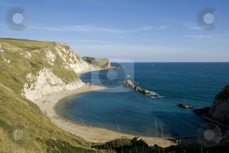 Man O War bay Dorset England stock photo, Man O War bay is oart of the Jurasic Coast World Heritage Site and is next to Durdle Door by Chris Pole