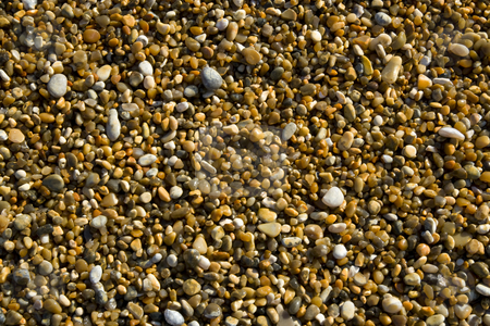 Close up of small pebbles stock photo, A close up of small pebbles on the beach at Durdle Door,Dorset ,England by Chris Pole