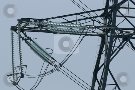Electricity pylon stock photo, View of British electricity pylons by Chris Pole